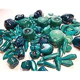 100g Italienische Natur Koralle Perlen Grün Blau Set Edelstein Naturstein Mix Form für Schmuck Kette Basteln Coral Beads G629
