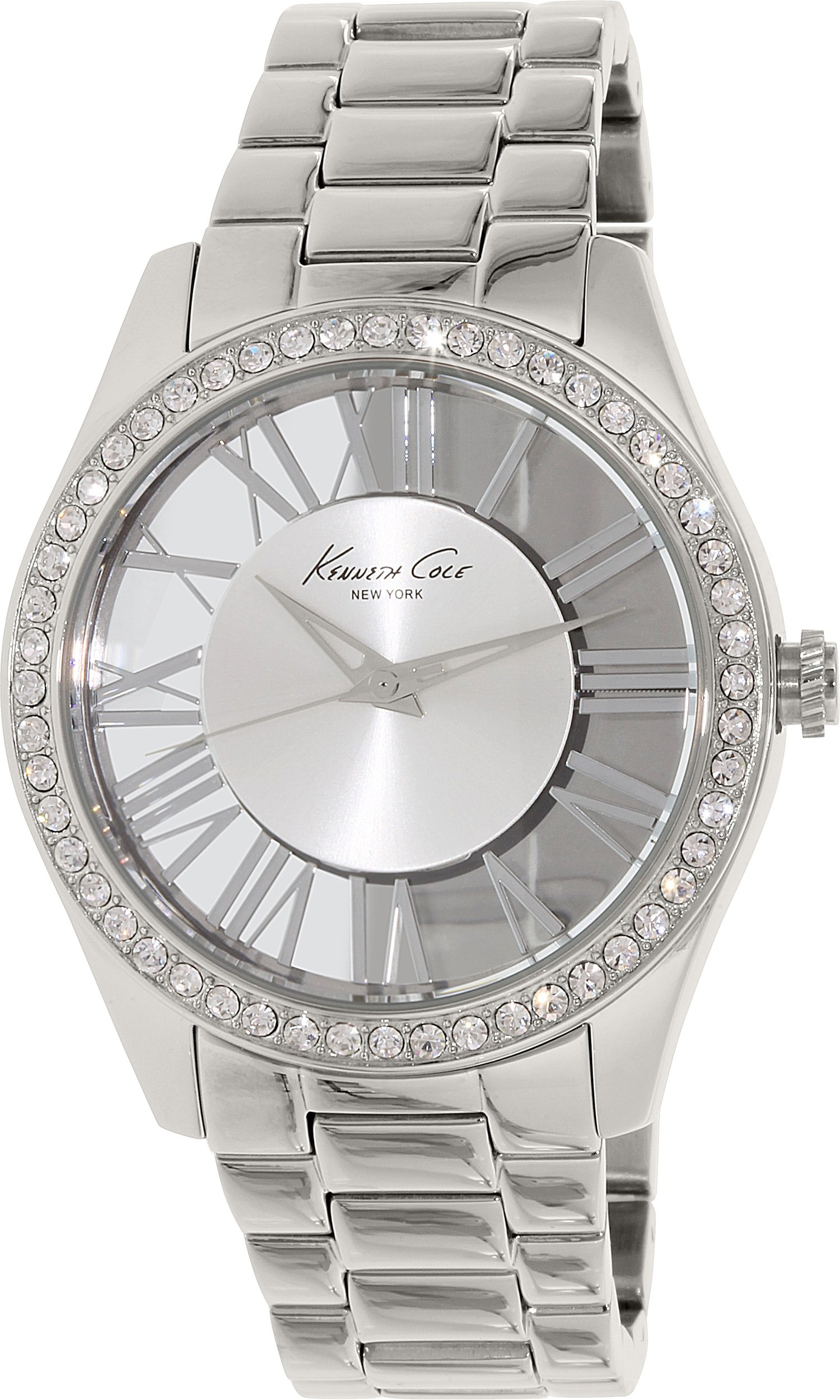Kenneth Cole New York Women's KC4851 ''Transparency'' Crystal-Accented Stainless Steel Watch