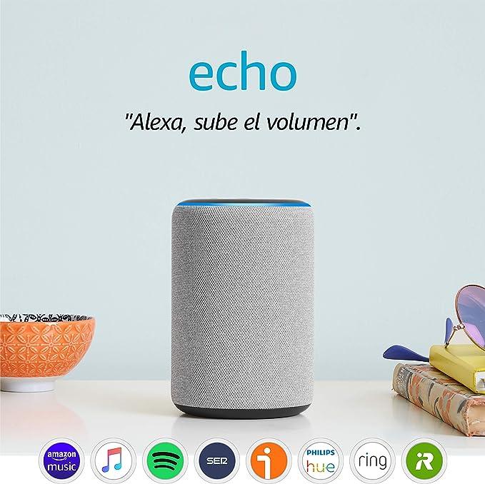 Image ofAmazon Echo (3.ª generación) - Altavoz inteligente con Alexa - tela de color gris oscuro