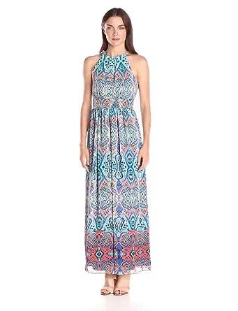 dd778ac6b4a Eliza J Women s Halter Maxi Dress at Amazon Women s Clothing store