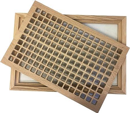 10 cm x 16 cm madera rejilla piso registro, roble blanco montaje ...