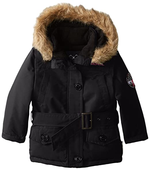 Big Chill Little Girls' Expedition Jacket, Black, 5/6