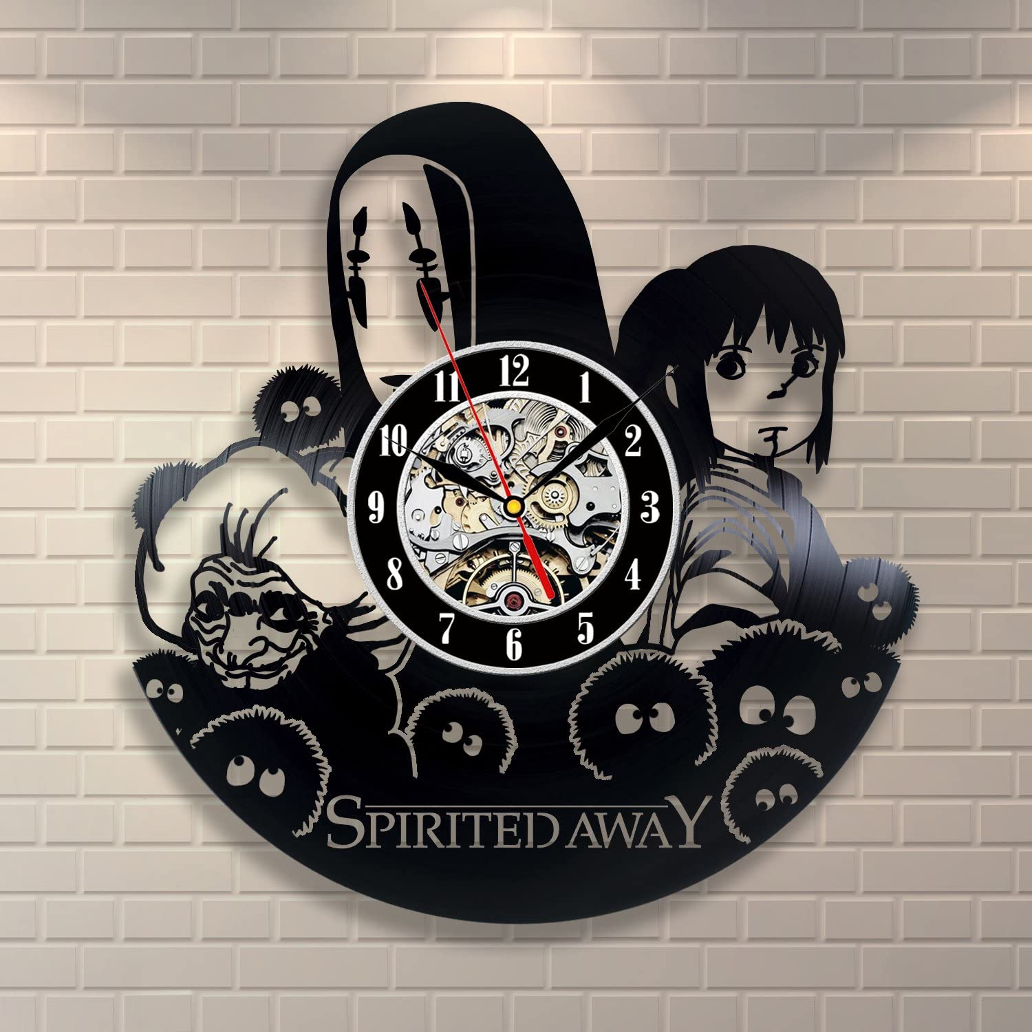 Amazon Com Spirited Away Anime Movie Vintage Office Decor Vinyl Record Wall Clock Wedding Home Kitchen