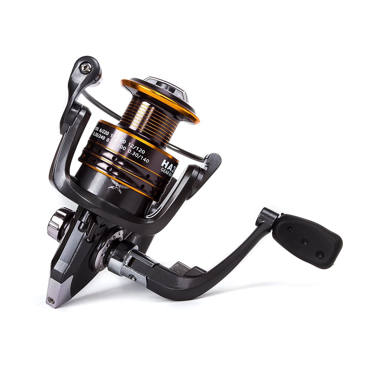 Sunvp fishing reels spinning freshwater saltwater with 5 2 for Freshwater fishing gear