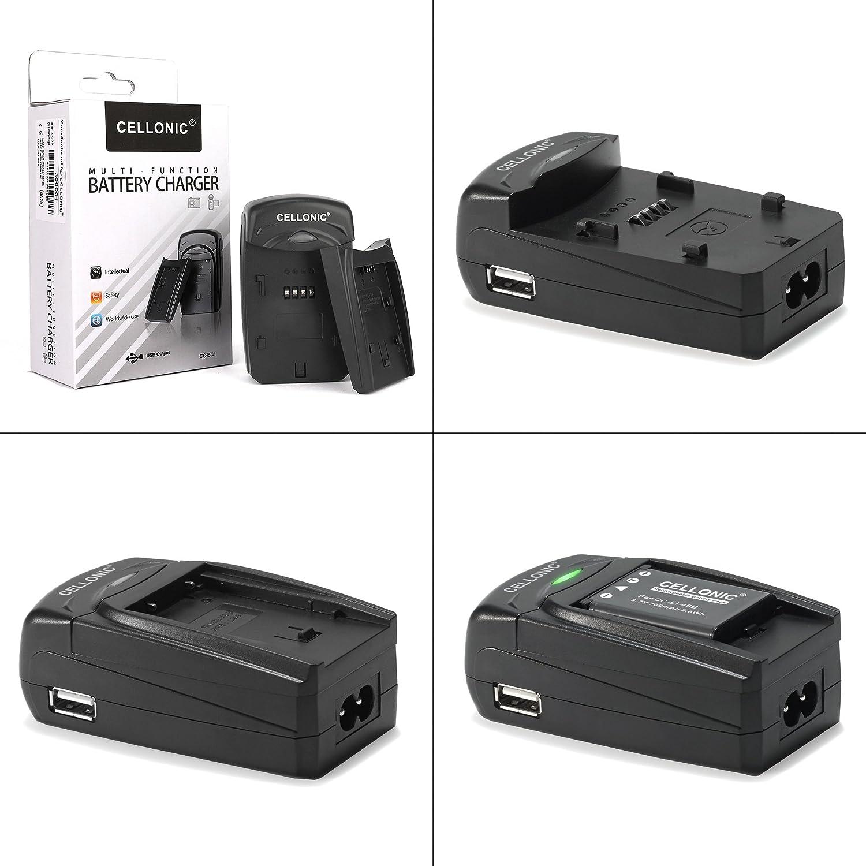CELLONIC/® Cargador MH-24 Compatible con Nikon D5600 D5500 D5300 D5200 D5100 D3500 D3400 D3300 D3200 D3100 DF CoolPix P7800 P7700 P7100 P7000 EN-EL14 Cable Coche Corriente