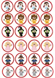 24 cupcakes cute wizard of oz cartoon themed dorothy lion witch Cake Toppers 4cm On wafer rice paper
