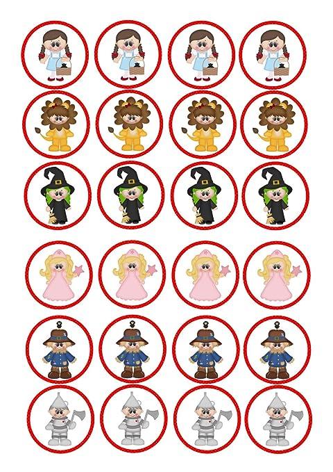 24 Cupcakes De El Mago De Oz Dorothy Diseño De Dibujos Animados