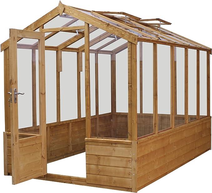 Waltons 6 ft x 10 FT lengua y Groove de madera Premium – de efecto invernadero estireno: Amazon.es: Jardín