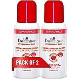 Enchanteur Antibacterial Hand Sanitizer Spray, 120 ml X 2 Pack