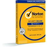 Norton Security 2017 Deluxe | 5 appareils | 1 an | PC/Mac/Android/iOS