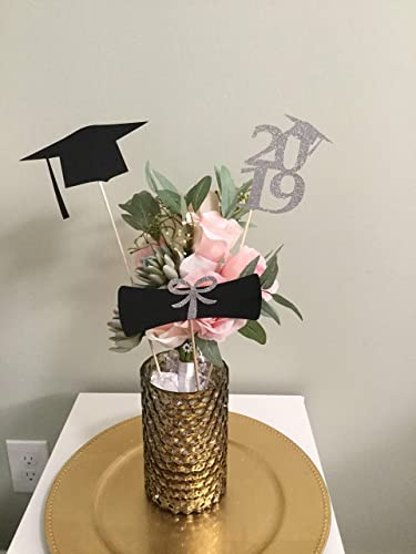 Amazon Com Graduation Centerpiece Sticks 2019 Grad Cap Diploma