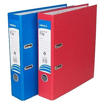 [2 unidades] A4 Archivadores De Palanca 70 mm papel archivo Documento Legal carpetas de almacenamiento (azul/rojo): Amazon.es: Oficina y papelería