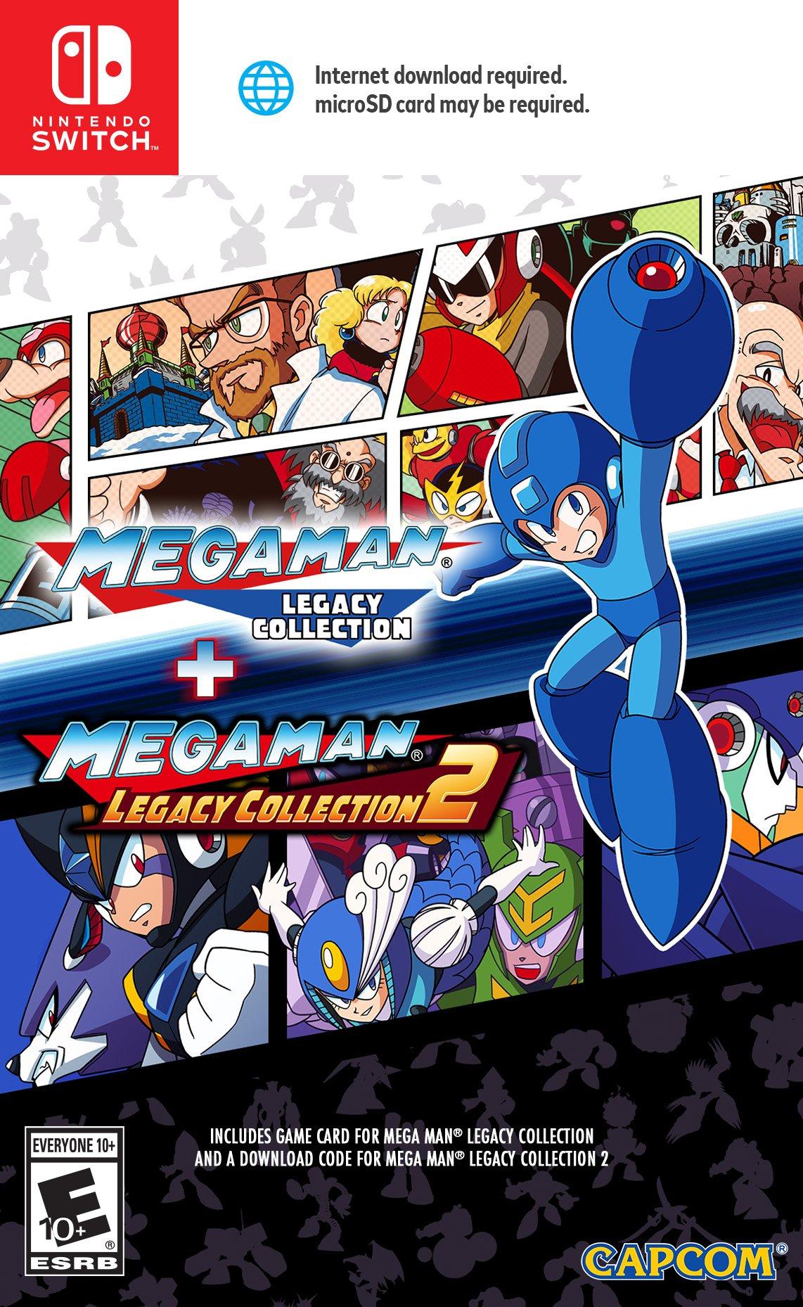 Amazon com: Mega Man Legacy Collection 1 + 2 - Nintendo