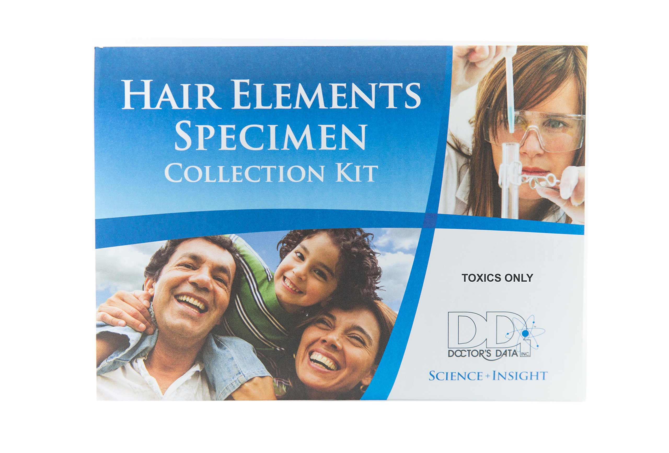Toxic Element Exposure Home Hair Testing Kit (Test for 31 Heavy Metals, Toxins and Chemicals) - Includes Pre-Paid Sample Return Label