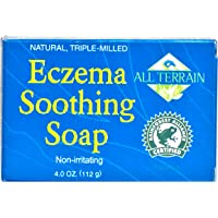All Terrain Eczema Soothing Soap 4oz, Naturally & Safely Cleanse & Soothe Itchy, Irritated