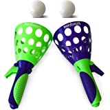 The Original Pop 'N Catch Game by Geospace, Double Set - Launch and Catch the Ball; Perfect for Backyard, Beach, Tailgate | Fun for Kids and Adults