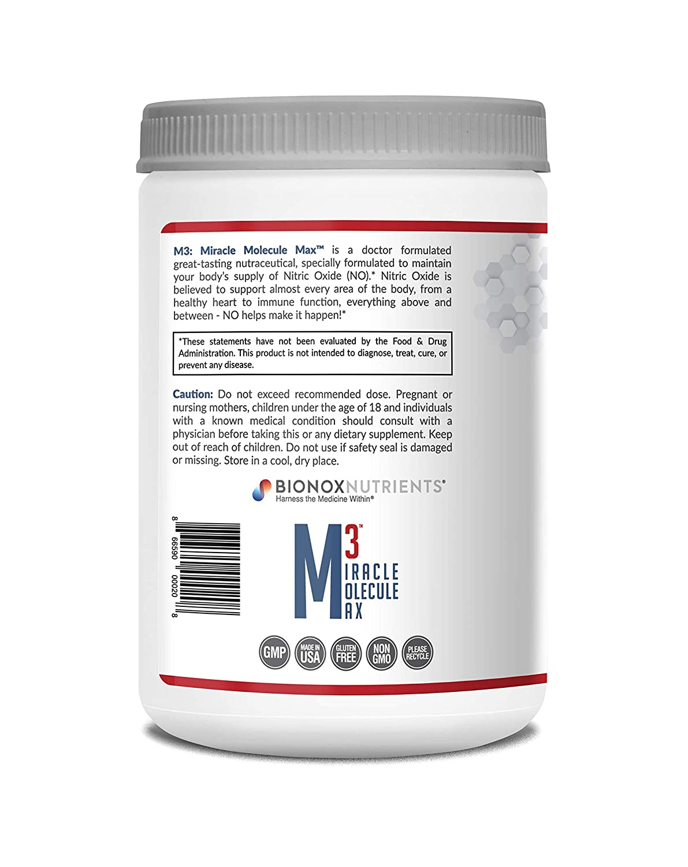 Amazon.com: M3 Miracle molécula Max óxido nítrico Nutrition ...
