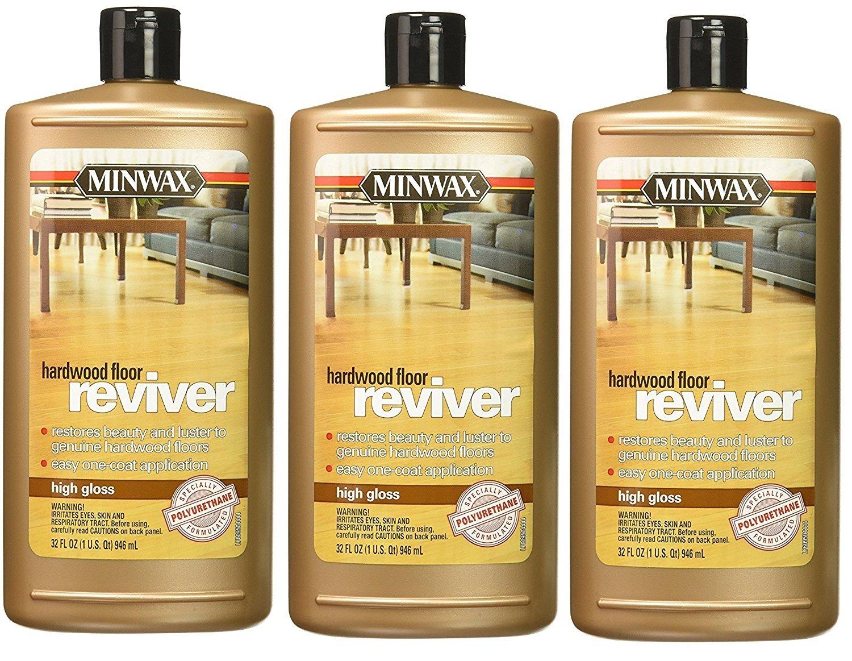 (3PACK) Minwax 609604444 Hardwood Floor Reviver, 32 ounce, Low Gloss