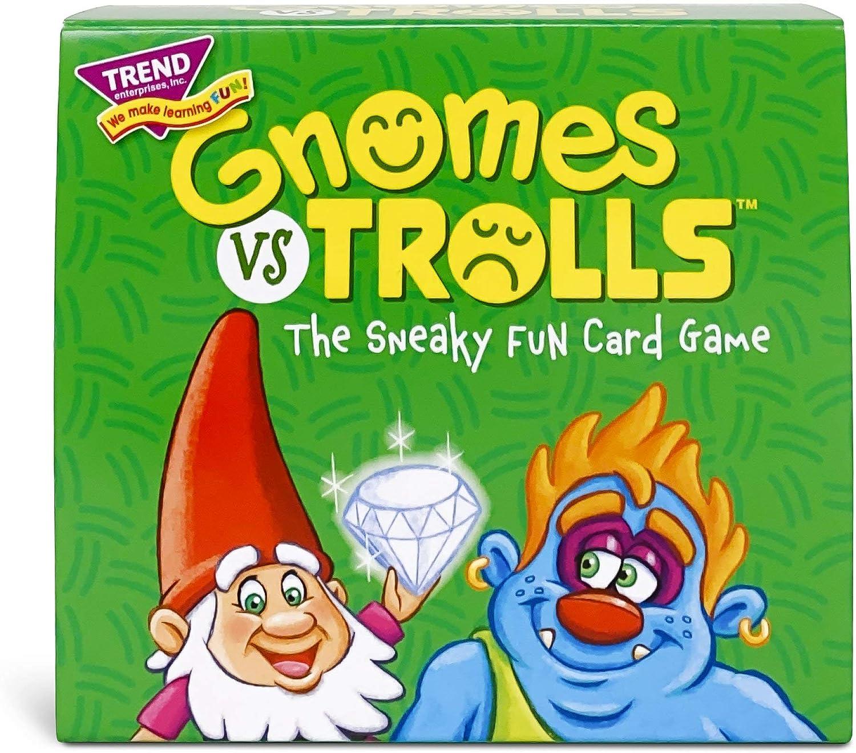 Amazon Com Gnomes Vs Trolls Three Corner Strategy Game By Trend Enterprises Inc Family Friendly Card Games Toys Games