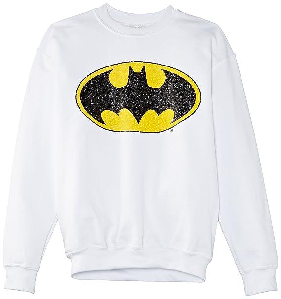 Dc Comics Batman Gloss Logo, Sudadera, Niños, Blanco (White), 12-13 años: Amazon.es: Ropa y accesorios