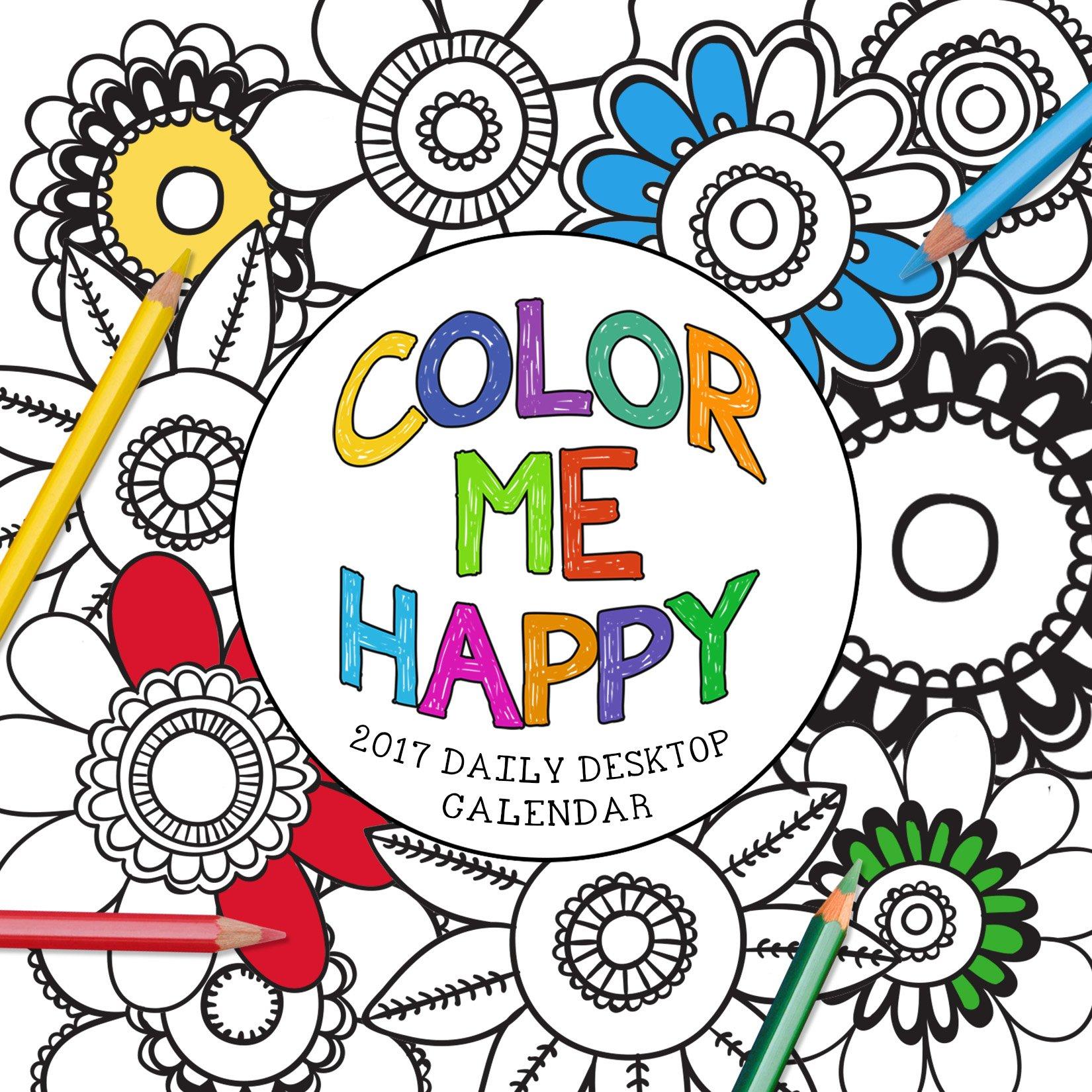 2017 Color Me Happy Daily Desktop Calendar Calendar – Day to Day Calendar, Desk Calendar TF Publishing Time Factory 162438790X 17-3018