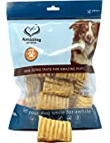 Amazing Dog Treats 3-4 Inch Beef Trachea (12, 25, and 50 Pack) -Premium Dog Chews- Great for Small Size Dogs - Excellent Source of Glucosamine and Chondroitin- Great Breeds