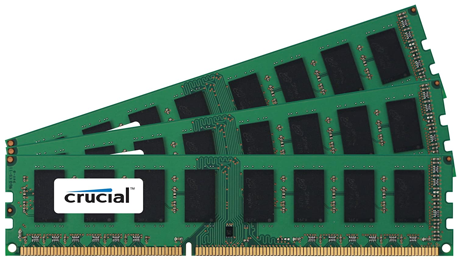 Crucial CT3KIT12864BA160B 3GB (3x 1GB) Memory Kit