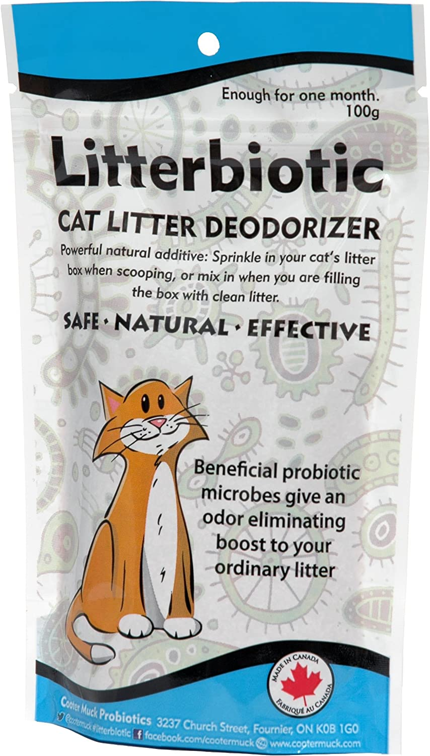 Cat Litter Deodorizer - All Natural - No Perfumes - Keep Your Cat Healthy and Your Home Odor-Free