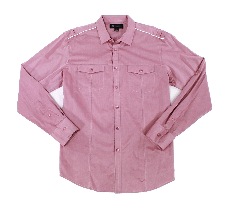 I-N-C Mens Core Topper Button Up Shirt