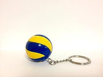 Bkstuff Llavero Voleibol Bola amarrilla y Azul gadged Equipo ...