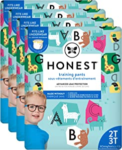 The Honest Company Toddler Training Pants, Animal ABCs, 2T/3T, 104 Count