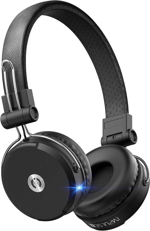 MuveAcoustics Impulse2Pro Wireless On Ear Headphones – Bluetooth Noise Isolating Earphones, Steel Black