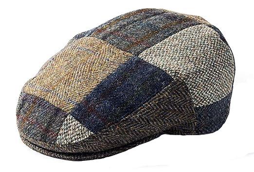 a1f1732b352 Failsworth Harris Tweed Patchwork Flat Cap at Amazon Men s Clothing ...