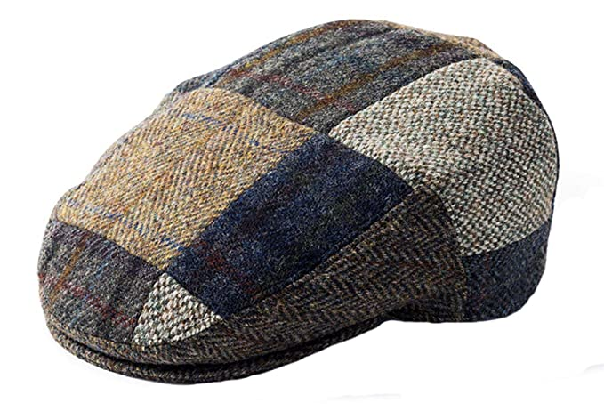 b1a391fbcbb Failsworth Harris Tweed Patchwork Flat Cap at Amazon Men s Clothing ...