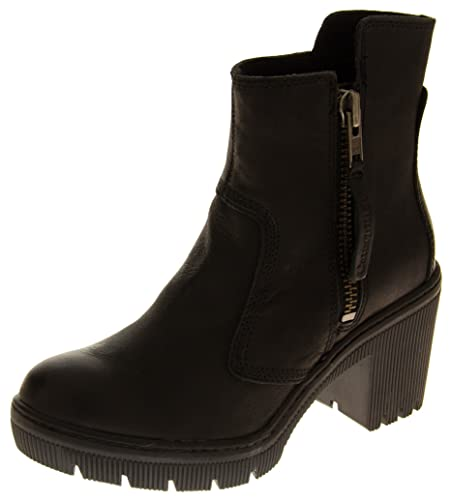 Caterpillar Womens Batten Black Leather Wide Fit Ankle Boots UK 8 ... 0cbf643d7