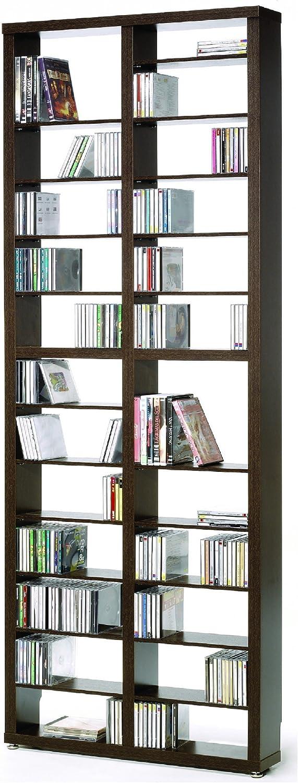 Top Kit | Estantería Cds DVDs Berlin 2010 | Medidas 208 x 66,5 x 15 cm | Estantería Libros | Wengue