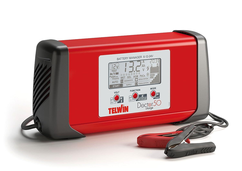 Telwin TE-807586 Cargador de Bateria, Rojo y Negro: Amazon.es ...