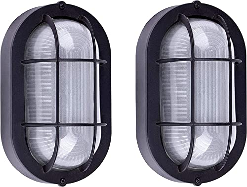 ARVI S LED Wall Lantern Black Aluminum HOUSING Frosted Glass 9 W DOB 2 Pack