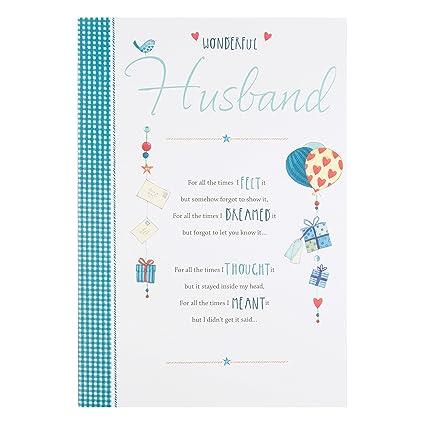 Hallmark - Tarjeta de cumpleaños para esposo Wonderful ...