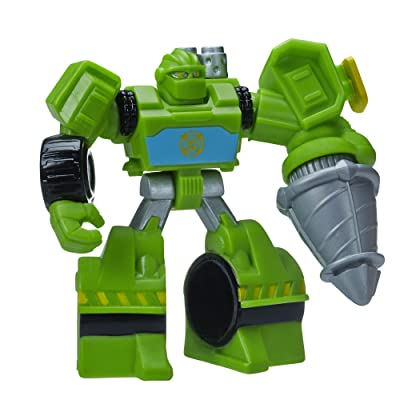 Playskool Heroes, Transformers Rescue Bots, Boulder The Construction-Bot Figure, 3.5 Inches: Toys & Games