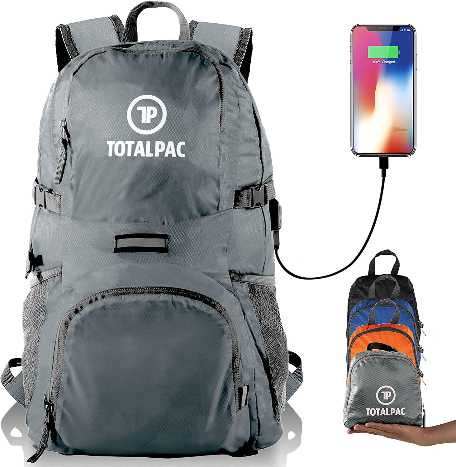 Totalpac – Hiking Daypack Foldable Backpack for Traveling, Hiking Camping