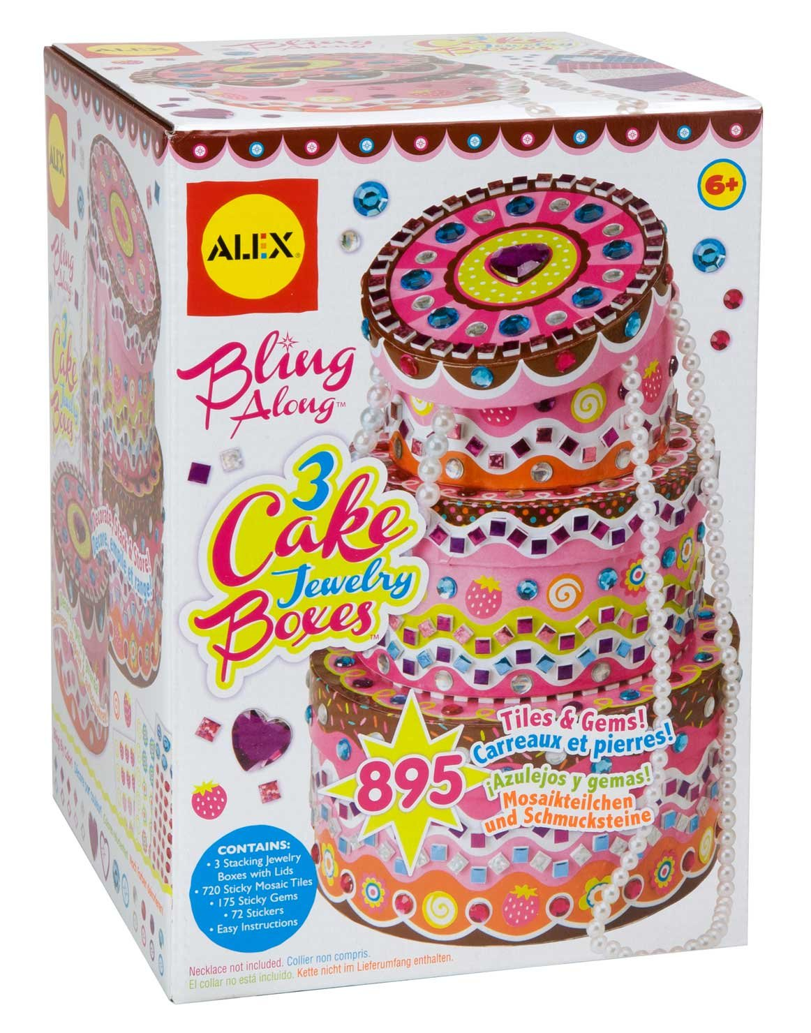 ALEX Toys Craft Bling Along 3 Cake Jewelry Boxes 178C