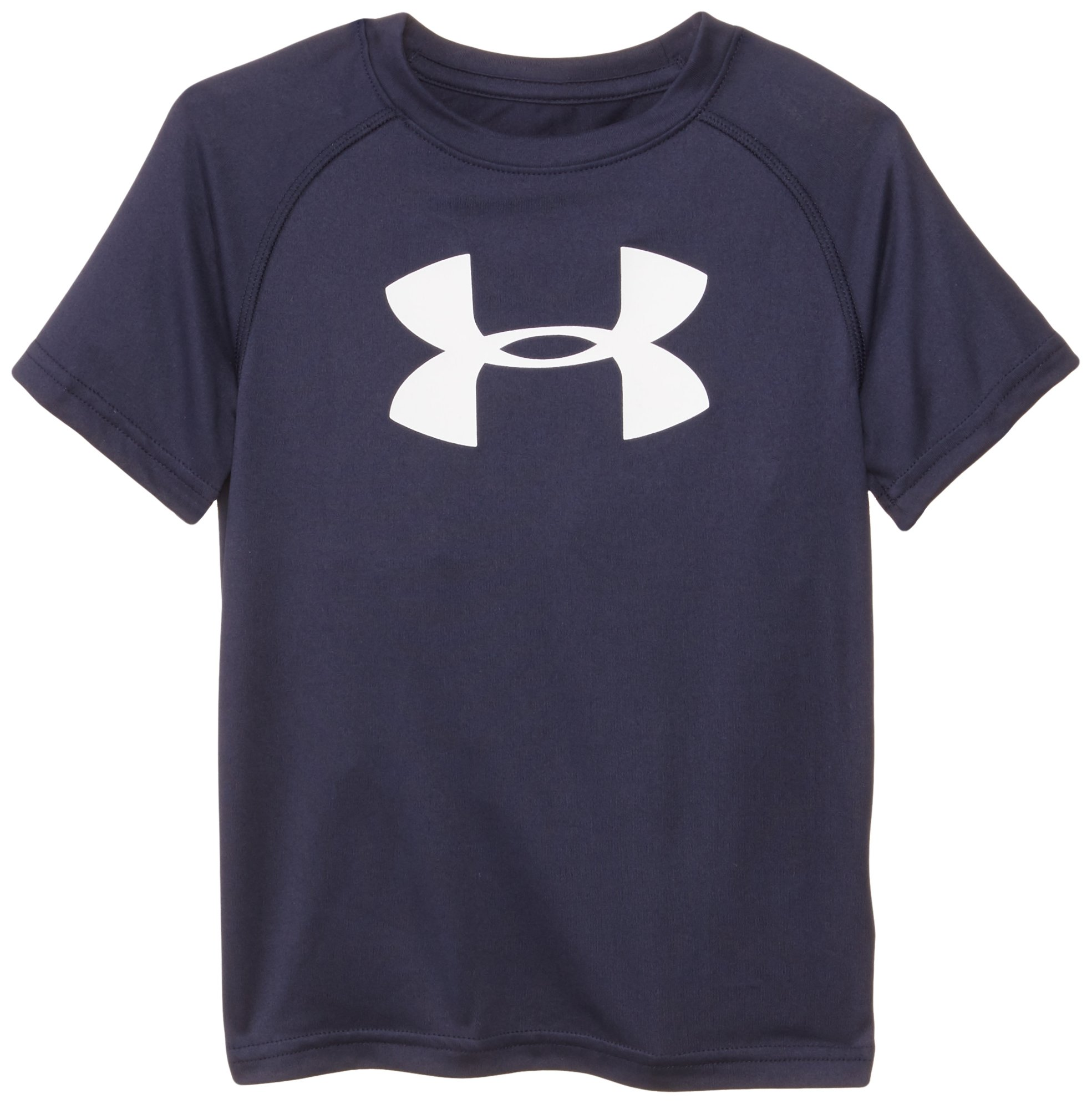Under Armour Toddler Boys' Big Logo Short Sleeve Tee Shirt, Midnight Navy, 3T by Under Armour