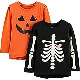 Simple Joys by Carter's Toddler Girls' 2-Pack Halloween Long-Sleeve Tees