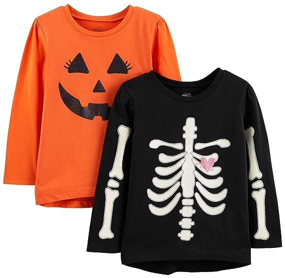 95752cdd417 Simple Joys by Carter's Toddler Girls' 2-Pack Halloween Long-Sleeve Tees