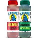 "Secret Aardvark Habanero Hot Sauce and Serrano Green Hot Sauce Variety Pack - (236ml x 2 Bottles) Unique ""Caribbean…"