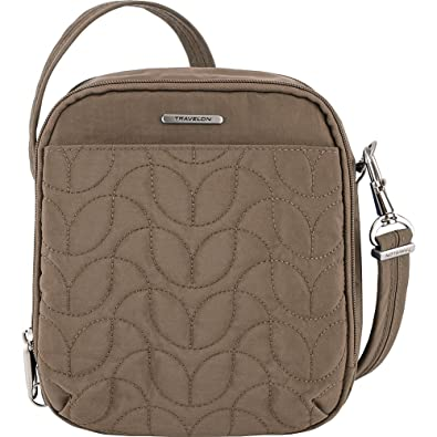 Travelon Anti-Theft Quilted Tour Bag - Extra Small RFID Lined Crossbody for  Travel   cf9f6ac289813