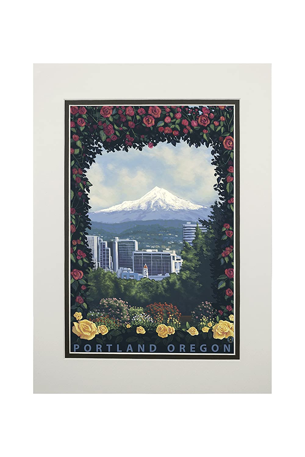 【10%OFF】 ポートランド LANT-30923-11x14M、オレゴン州 – Roses and Art City Art 11 x 14 Matted Art Print LANT-30923-11x14M B06XZJ6ZG7 11 x 14 Matted Art Print, 代官山ワインサロン LeLuxe:0d5ce885 --- mcrisartesanato.com.br