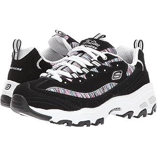 Skechers Sport Women's Dlites Interlude Sneaker,black/multi,7 W US