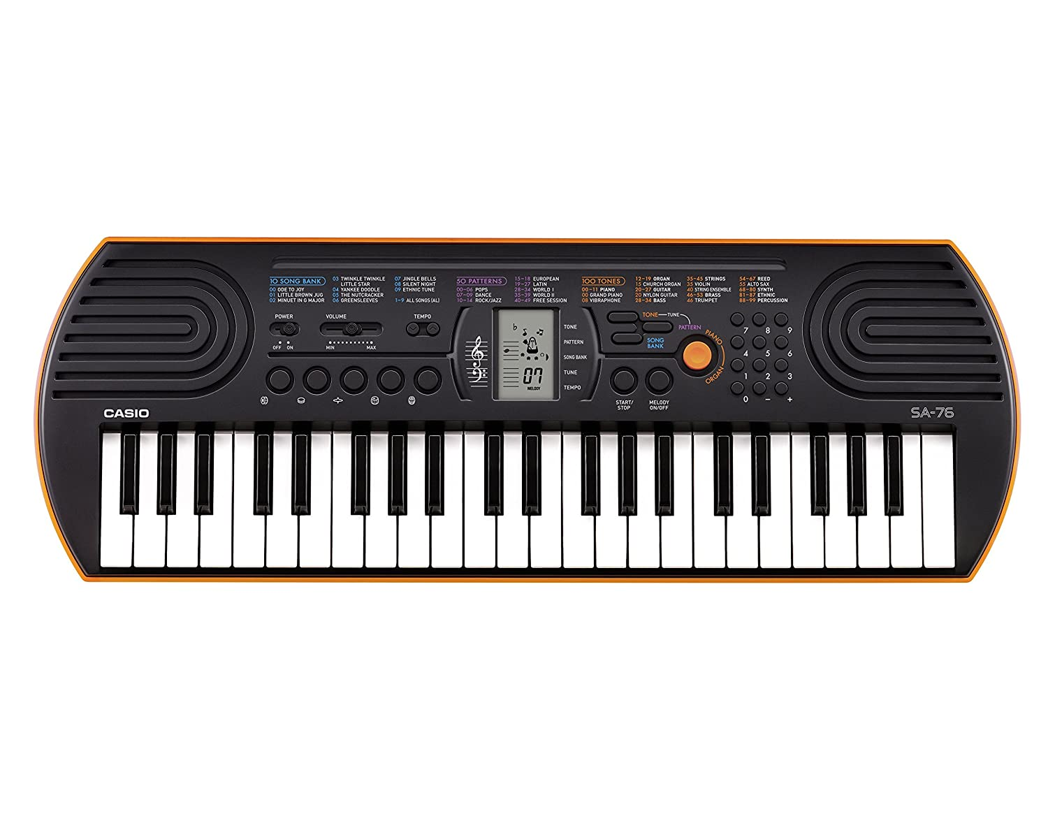 Casio SA76 EDP Personal Keyboard Package with Closed-Cup Headphones, Power Supply and Instructional Software Casio Inc.
